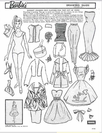 Retro Barbie Coloring Pages : Barbie dolls coloring pages color example male models