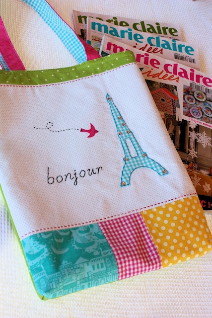 Bonjour Paris Tote from A Spoonful of Sugar #bags #paris