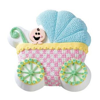 baby pram carriage cake tin by wilton the shower shop