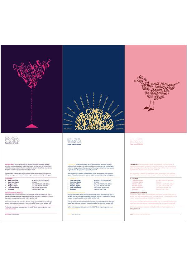 Gf smith paper colorplan by zornitsa dimitrova via behance
