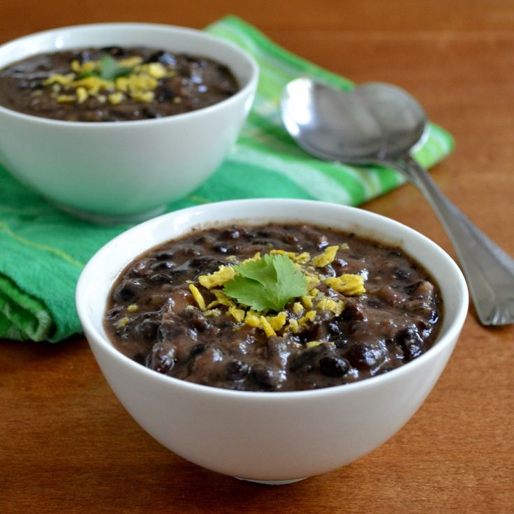 Easy Black Bean Soup from Real Food Real Deals
