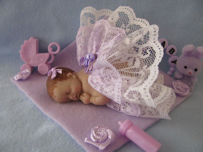 polymer clay baby doll ooak miniature shower favor gift fairy angel
