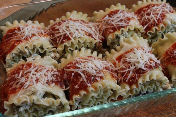 Chicken Pesto Lasagna Rolls   Italian Meals   Pinterest