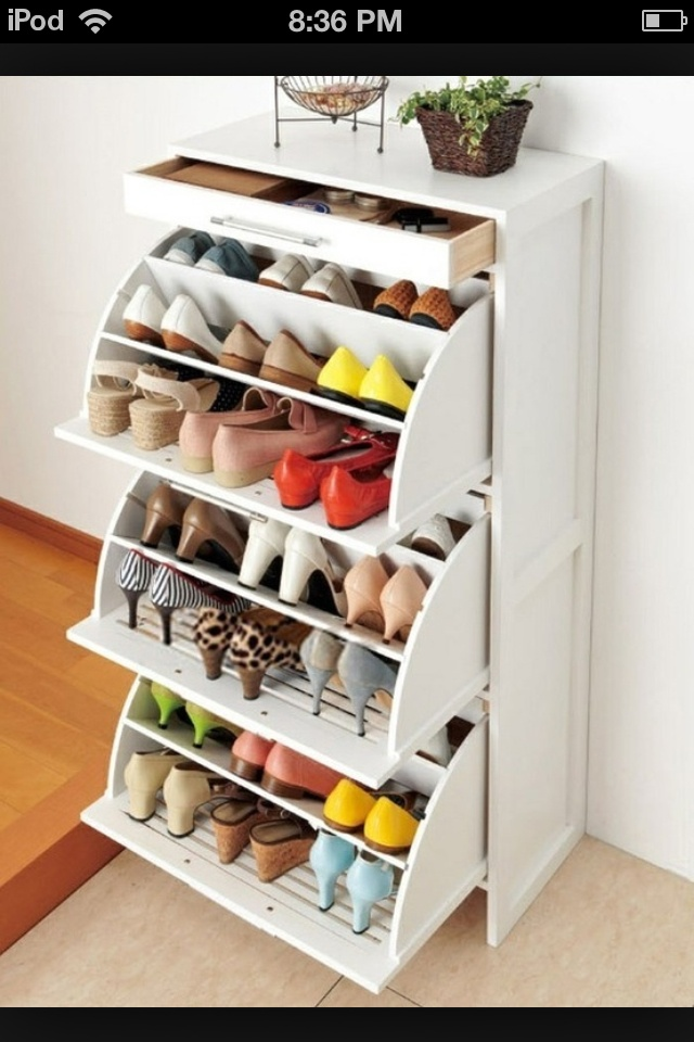 Ikea shoe drawer, holds 27 pairs!   Chambers   Pinterest