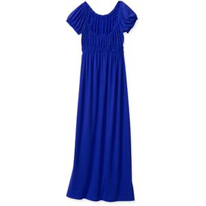 Stitch Women's Peasant Cap Sleeve Woven Maxi Dress