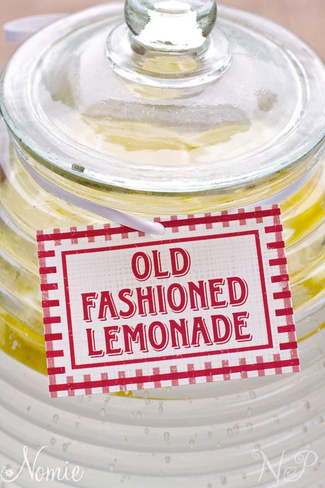old fashioned lemonade | Picnic Birthday Party Ideas | Pinterest
