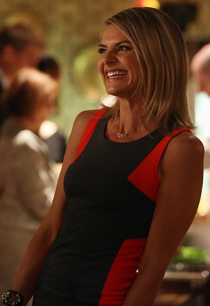 Jane's red and grey colorblock dress on Happy Endings - for $59