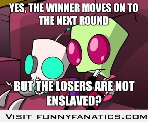 Confused Invader Zim March Madness