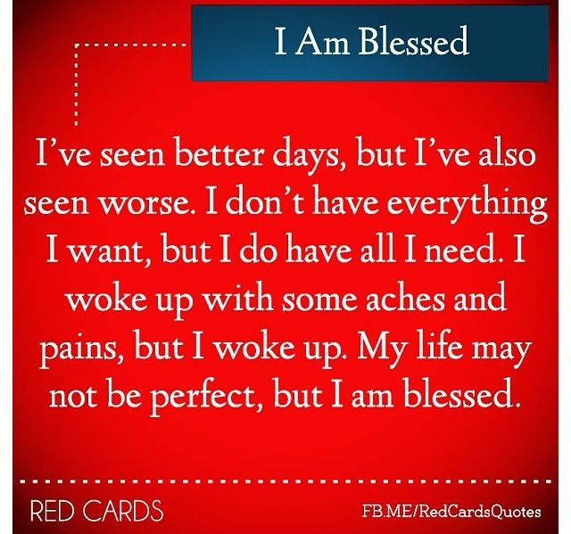essay on i am blessed