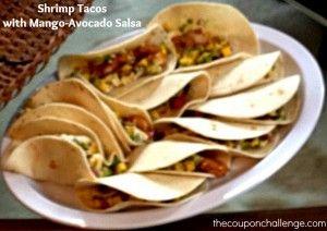 Post image for Shrimp Tacos with Mango-Avocado Salsa Recipe