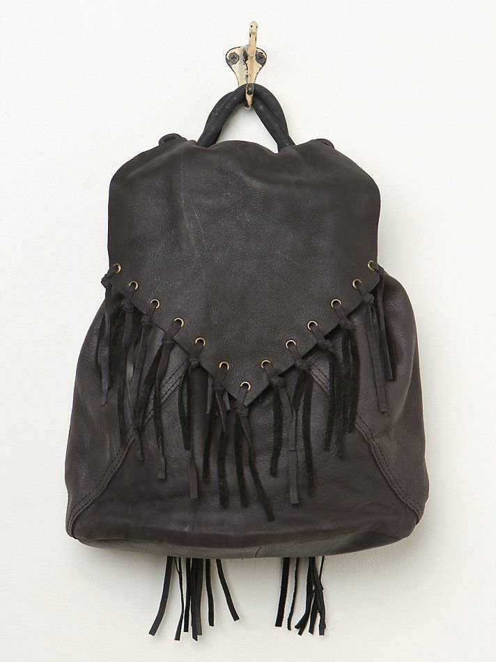 7 Chi Addison Fringe Backpack at Free People Clothing Boutique
