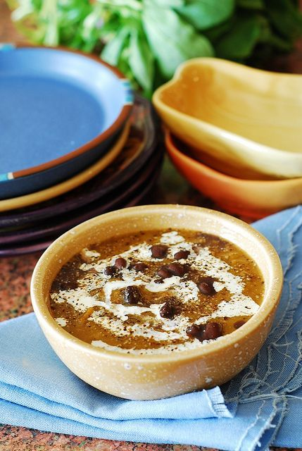 Black bean butternut squash soup. | Recipes | Pinterest