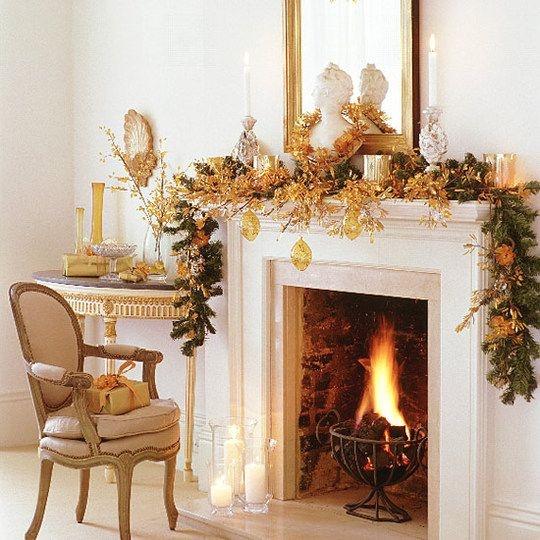 Christmas Mantel | Christmas Decorating | Pinterest