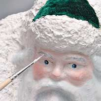 Лицо дед мороз своими руками