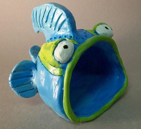 Ceramics and sculpture 10 11 12 mrs tremblay 39 s art class for Clay pot fish