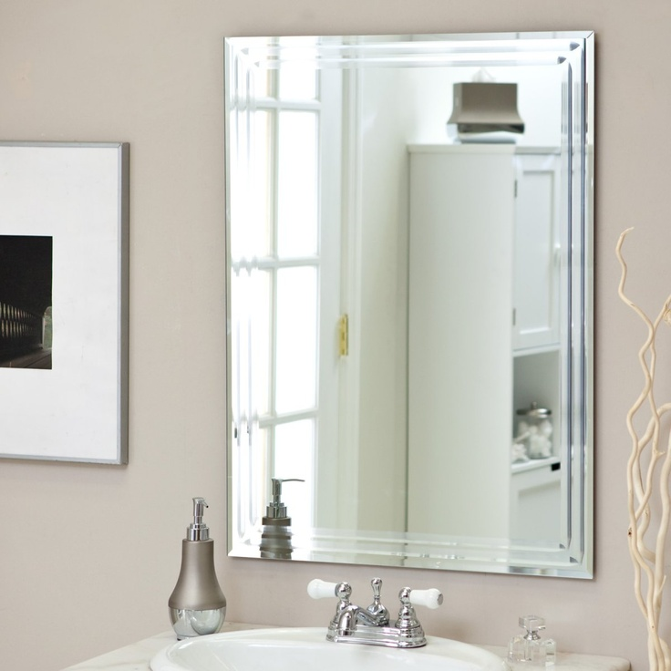 Frameless Tri Bevel Wall Mirror 23 5W X 31 5H In Wall Mirrors At