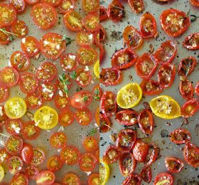 lemon thyme: roasted cherry tomato pasta salad with Kalamata olive ...