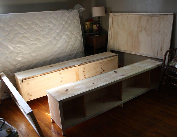 Diy storage bed frame for the home pinterest - Cool diy bed frames ...