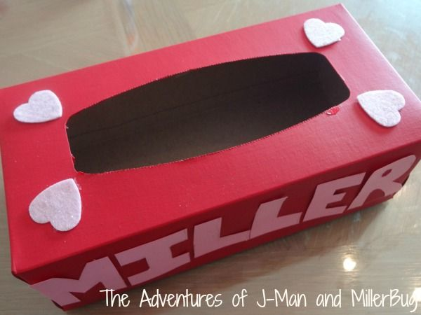 valentine's day kid boxes