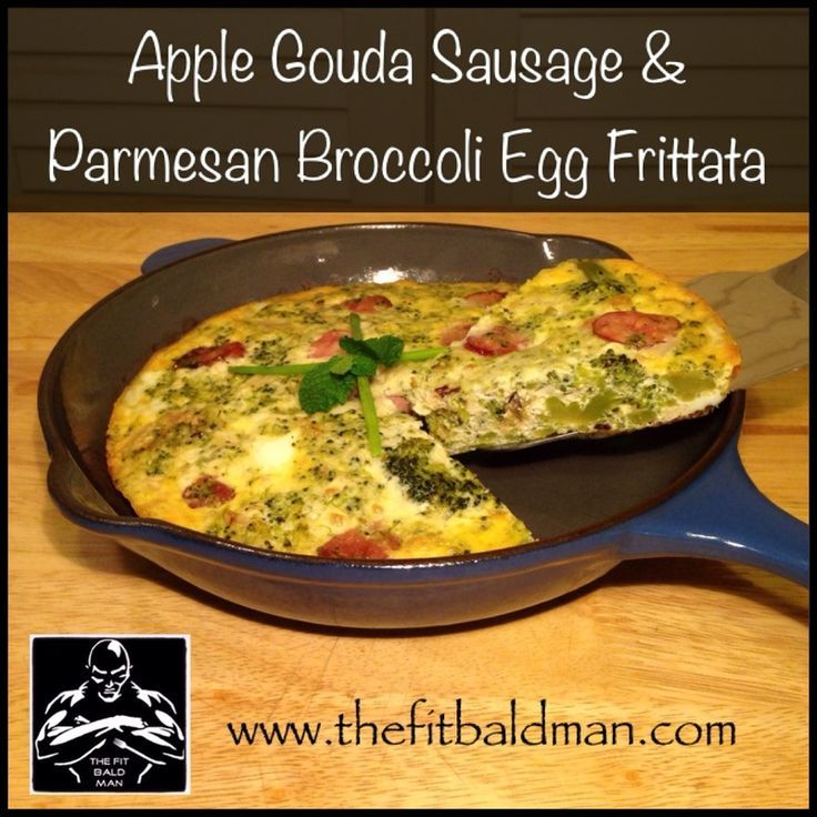 Apple, Gouda, sausage breakfast frittata | Clean Eating | Pinterest