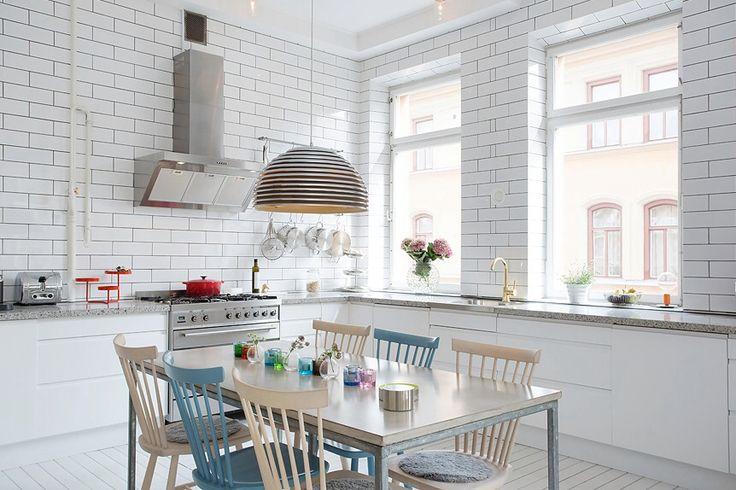 white brick kitchen kitchen