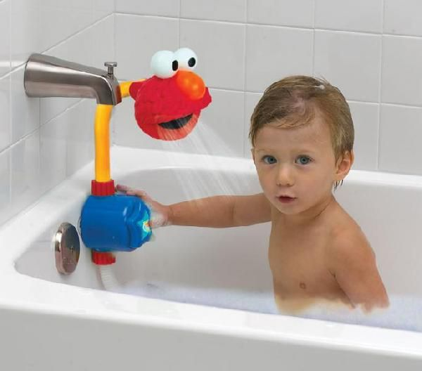 elmo press spray toy shower head kids toy shower