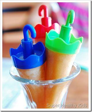 peach popsicles | Food - Snacks | Pinterest