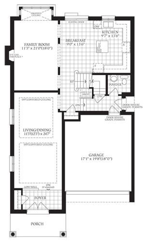 floor plan for kitchen/family room. | house ideas | Pinterest