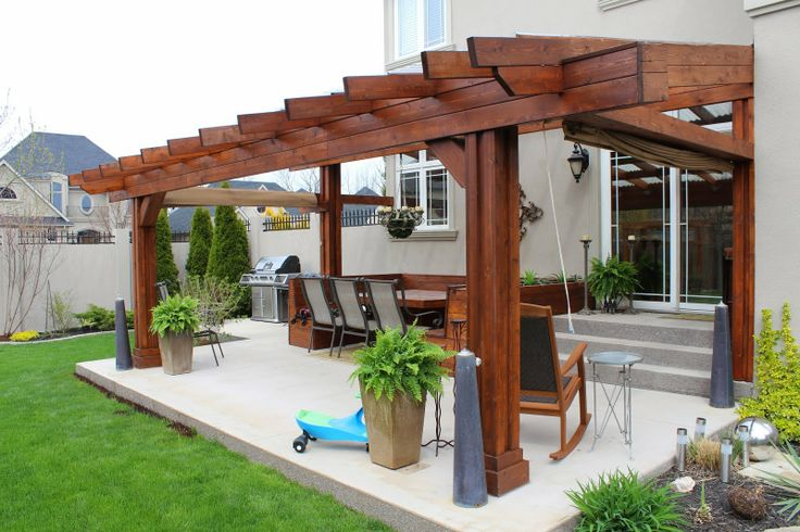 Bayview Custom Interiors Pergola  Patio  Pinterest