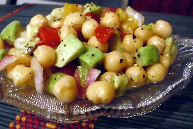 garbanzo avocado salad | food | Pinterest