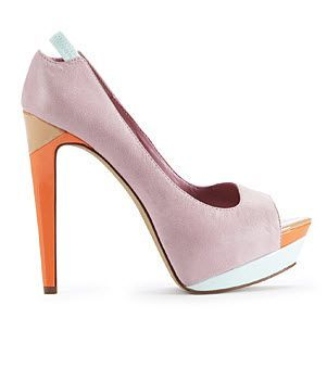 Color-block shoes