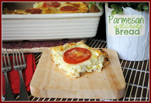 Parmesan Artichoke Bread- delicious Artichoke dip on top of crescent ...