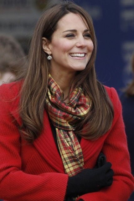 Kate Middleton Dons Red Armani Coat For Second Day In Scotland
