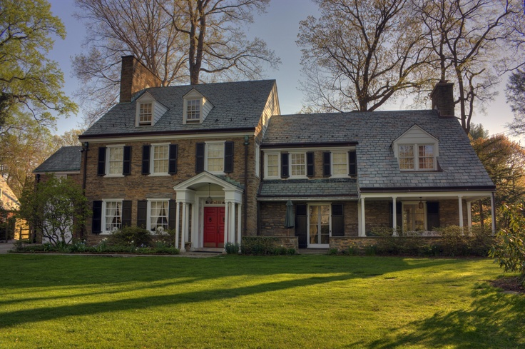 Black shutters red brick home pinterest - Red brick house black shutters ...