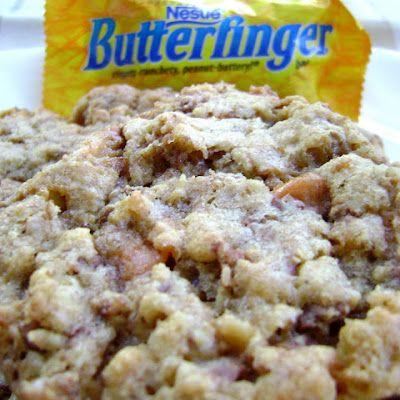"Crispy Butterfinger Cookies   Cookies :) "" I love cookies !.. All ki ..."