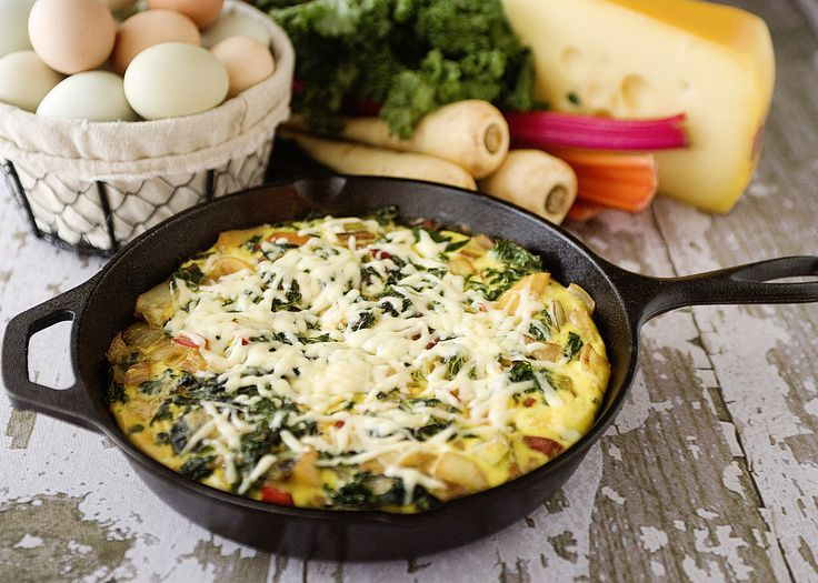 Frittata with kale peppers and sweet potato