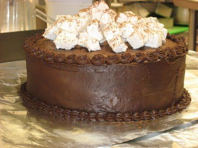 ... with Love: Hot Chocolate Layer Cake with Homemade Marshmallows