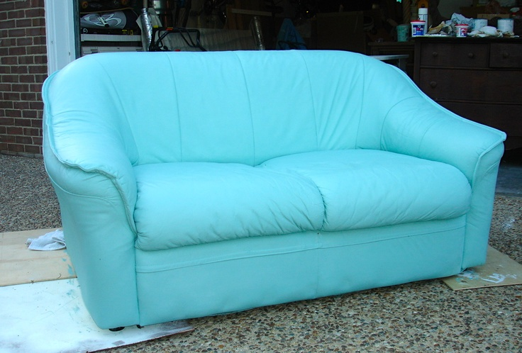Leather Sofa Painted With ASCP Painted Furniture