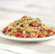 Spaghetti with Pine Nuts, Tomato & Garlic Breadcrumbs | Recipe