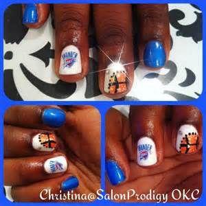 OKC Thunder Bling Nail art! | Ultimate OKC THUNDER Female Fan Fashion