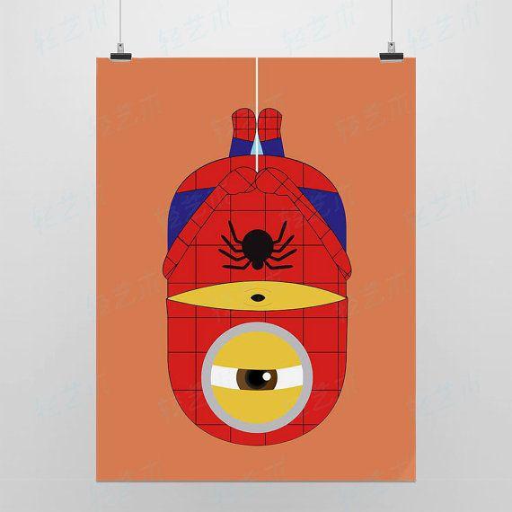 Light Art Anime Game Minions Super Hero Spiderman Orange DIY Cute Fun ...