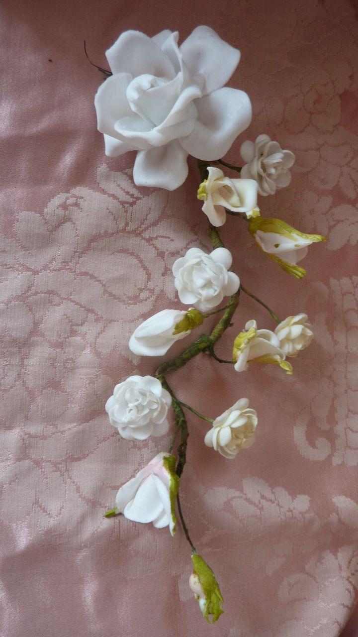 Delicious Porcelain Floral Spray Wedding Cushion Rose Rosebuds
