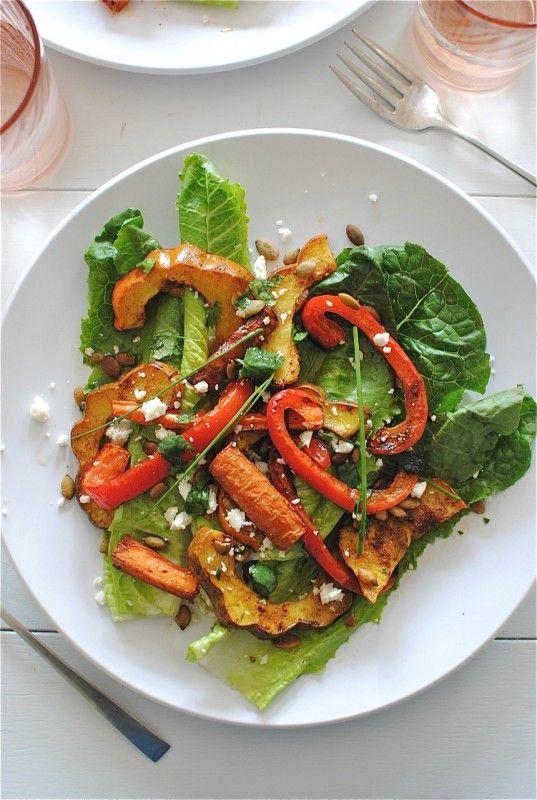 chili roasted vegetable salad   food, glorious food!   Pinterest
