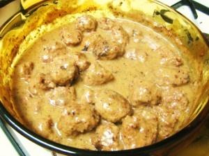 Swedish Meatballs from Jillian, so hopefully lighter.