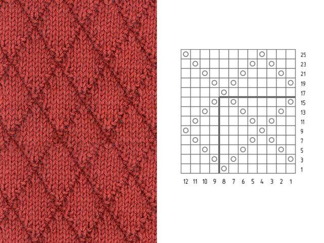 Рисунки из ромбов вязание схемы 143