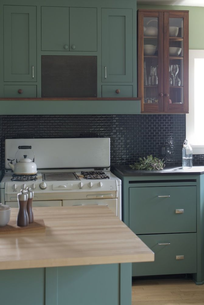 the best green blue stained wood black tile love