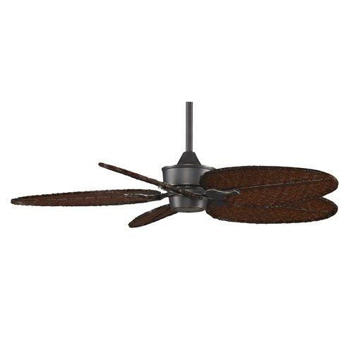 Islander Bronze Accent 52-Inch Ceiling Fan with Antique Bamboo Blades