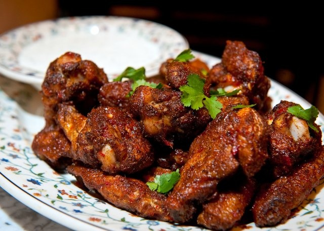 Jackson Street Baked Hot Wings Recipe A hot wings recipe with Asian ...