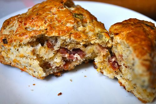Apple-Smoked Bacon Cheddar Scones | ideation | Pinterest