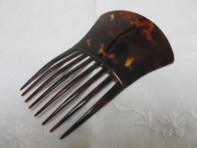 ANTIQUE VICTORIAN LARGE FAUX TORTOISESHELL HAIR COMB c1890